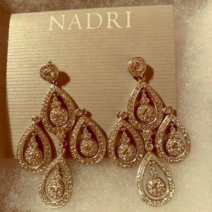 Nadri Teardrop Earrings (New W/Tags)